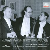 Beethoven: String Trios / Rostropovich, Kogan, Barshai
