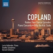 Copland: Rodeo: Four Dance Episodes; Piano Concerto; Billy the Kid: Suite / Lorin Hollander, piano