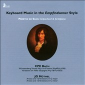 Keyboard Music in the Empfindsamer Style - works by C.P.E. Bach & J.G. Muthel / Preethi de Silva, harpsichord & fortepiano