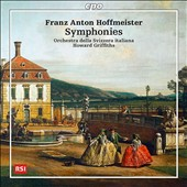 Franz Anton Hoffmeister (1754-1812): Synmphonies in C & D major; King of Ithaca, overture / Orch. Della Svizzera Italiana, Howard Griffiths
