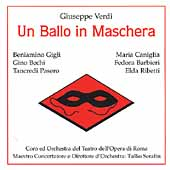 Verdi: Un Ballo in Maschera / Serafin, Gigli, Bechi, et al