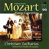 Mozart: Piano Concertos Vol 1 / Zacharias, Lausanne CO