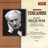 Brahms: Requiem / Toscanini, Janssen, Della Chiesa, et al