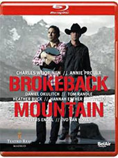 Charles Wuorinen: Brokeback Mountain, opera (Libretto: Annie Proulx) / Okulitch, Randle, Buck et al.; Madrid Royal Theater; Engel [Blu-Ray]
