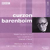 Mozart: Double Concerto, etc / Curzon, Barenboim, English CO