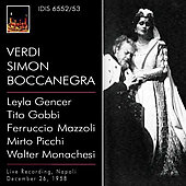 Verdi: Simon Boccanegra / Rossi, Gencer, Gobbi, Mazzoli, Picchi, et al