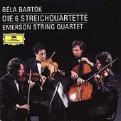 Bart&#243;k: 6 String Quartets / Emerson Quartet