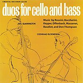 Duos for Cello and Bass / Coenraad Bloemendal, Joel Quarrington
