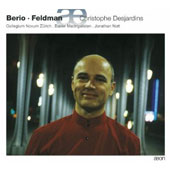 Christophe Desjardins plays Berio, Feldman
