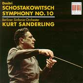 Schostakowitsch: Symphony no 10 / Sanderling, Berlin SO