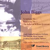 John Biggs: Symphonies no 1 & 2, etc / Freeman, Czech NSO