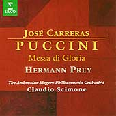Puccini: Messa di Gloria / Scimone, Carreras, Prey