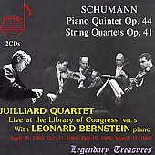 Library of Congress Vol 5 - Schumann / Bernstein, Juilliard