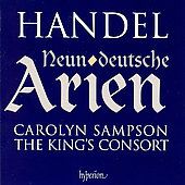 Handel: Neun Deutschen Arien / Sampson, King's Consort