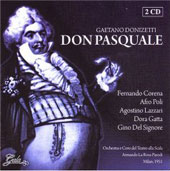 Donizetti: Don Pasquale, etc / Parodi, Corena, Poli, Lazzari, et al