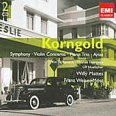 Gemini - Korngold: Symphony, Violin Concerto, Arias, etc / Mattes, Kanawa, Hampson, Hoelscher, et al