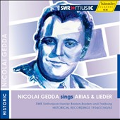 Nicolai Gedda sings Arias & Lieder / Werner Singer, Erik Werba, piano