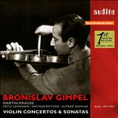 Violin Concertos & Sonatas by Sibelius, Szymanowski, Wieniawski, Janacek et al. / Bronislav Gimpel, violin, Martin Krause, piano (complete RIAS recordings 1954-57)