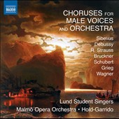 Choruses for Male Voices and Orchestra by Sibelius, Debussy, R. Strauss, Bruckner, Wagner et al. / Lund Student Singers