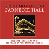Great Moments at Carnegie Hall - Selected highlights from 125 Years of Performances / Battle, Bernstein, Björling, Bolet, Cliburn, Feltsman, Fleming, Gould, Horowitz, Kissin, Koussevitzky, Menuhin, Richter, Rubinstein, Toscanini, Walter [43 CDs]
