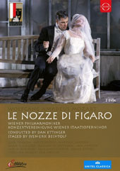 Mozart: The Marriage of Figaro, opera / Anett Fritsch, sop; Ann Murray, mz; Luca Pisaroni, Adam Plachetka, bass-bar; Vienna Philharmonic & State Opera Choir, Dan Ettinger [DVD]