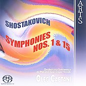 Shostakovich: Symphonies no 1 & 15 / Caetani, et al