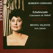 Gerhard: Cancionero de Pedrell, etc / B Valente, T Crone