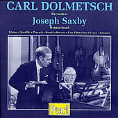 Handel, Telemann, etc / Carl Dolmetsch, Joseph Saxby
