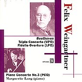 Beethoven: Triple Concerto, etc / Felix Weingartner, et al