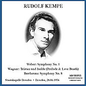 Weber: Symphony No 1;  Beethoven, etc / Kempe