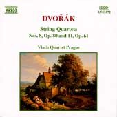 Dvor&aacute;k: String Quartets no 8 & 11 / Vlach Quartet Prague