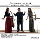 Miriam Hyde: Fantasy Trio, Hurlstone: Piano Trio in G Major, d'Ollone: Trio in A minor, Wiren: Trio 1 / Australian Trio Anima Mundi: Romantic Piano Trios