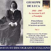 Giuseppe de Luca Vol 1 (1902-1907)