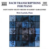 Bach Transcriptions for Piano / Risto Lauriala
