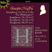 Haydn: Symphonies no 22-25 / Roy Goodman, The Hanover Band