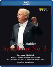 Mahler: Symphony No. 3 / Carolyn Watkinson, mezzo soprano; NOS Womens Choir; Holland Boys Choir; Royal Concertgebouw Orchestra, Bernard Haitink [Blu-ray]