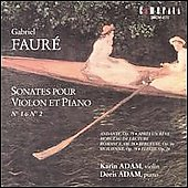 Faur&#233;: Sonatas for Violin and Piano / Karim Adam, Doris Adam