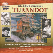 Puccini: Turandot / Solti, Goltz, Hopf, Stich-Randall