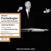 Brahms: Violin Concerto in D Major, Op 77 / Wilhelm Furtw&auml;ngler, Wiener Philharmoniker