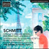 Florent Schmitt: Works for Piano Duet and Duo, Vol. 1 - 3 Rapsodies, Op. 53; 7 pieces, Op. 15 / Invencia Piano Duo