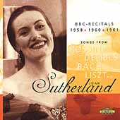 Joan Sutherland - BBC Recitals 1958-1961 / Richard Bonynge