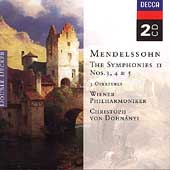 Mendelssohn: The Symphonies Vol 2 / Dohn&#225;nyi, Vienna PO