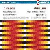 Nielsen: Symphony no 5, etc;  Sibelius / Alexander Gibson