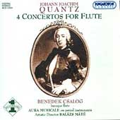 Quantz: 4 Concertos for Flute / Csalog, M&#225;t&#233;, Aura Musicale