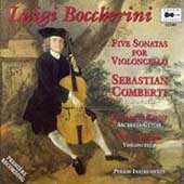 Boccherini: 5 Sonatas for Cello / Comberti, Kenny, Alford