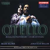 Opera in English - Verdi: Otello / Elder, Plowright, et al