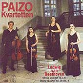 Beethoven: String Quartets Op 131 & 18 no 4 / Paizo Quartet