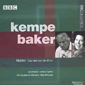 Mahler: Das Lied von der Erde / Kempe, Baker, Speiss, et al