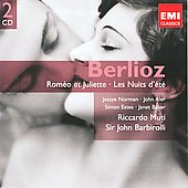 Gemini - Berlioz: Rom&eacute;o et Juliette, Les nuits d'&eacute;t&eacute; / Barbirolli, Norman, Aler, Estes, Baker