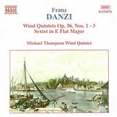 Danzi: Wind Quintets Op 56, Sextet / Michael Thompson Qnt